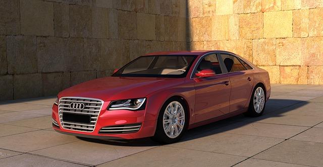 Červené Audi A8.jpg
