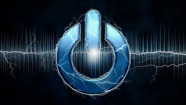 Elektrická energia, tlačidlo zapnúť